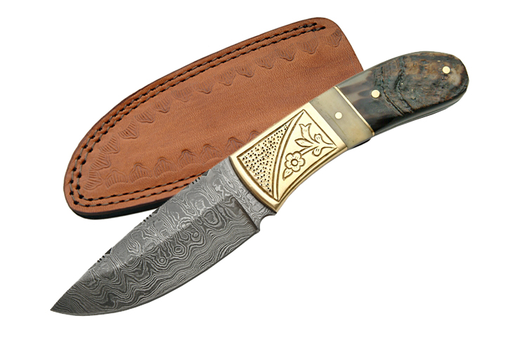 No. 0126 DAMASCUS HUNTING KNIFE