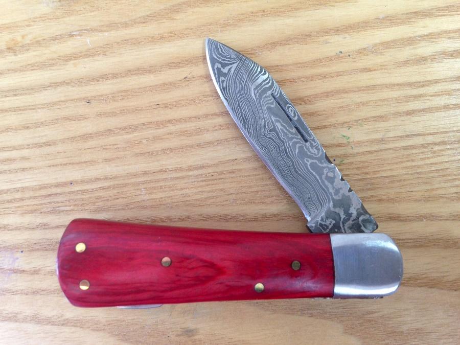 293 Damascus Pocket Knife