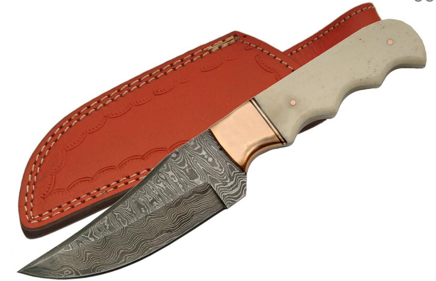 No. 0007 Damascus Pocket Knife