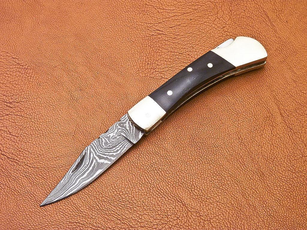 237 Damascus Pocket Knife