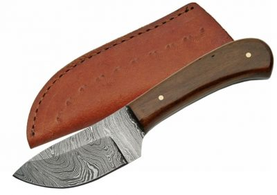 Damascus Knife with Walnut Wood Handle