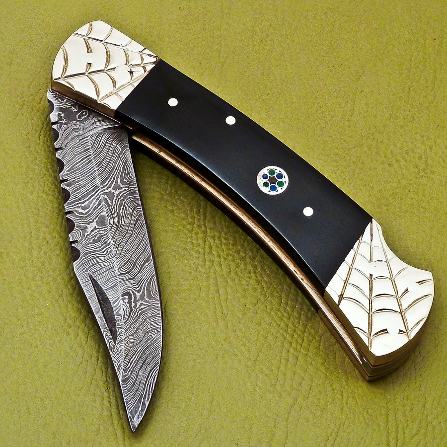 231 Damascus Pocket Knife