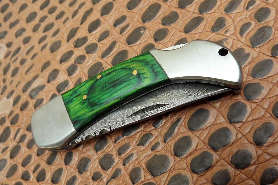 294 Damascus Pocket Knife