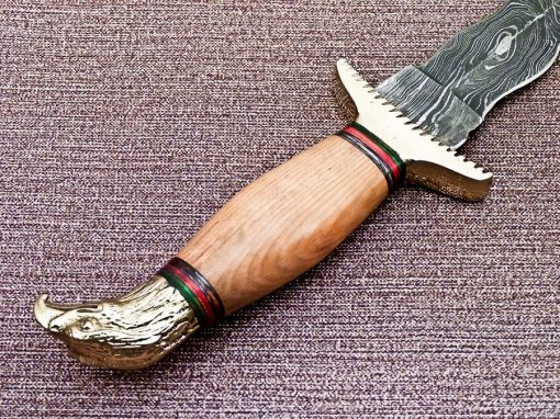 Damascus Dagger with Olive wood handle