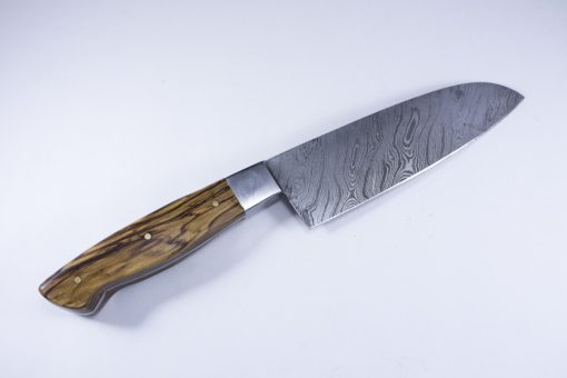 Damascus Kitchen Knife WITH Olive wood Handle