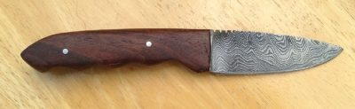 Damascus Knife with Walnut Handle