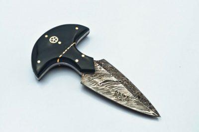 Damascus Tee Handle Dagger with buffalo horn Handle