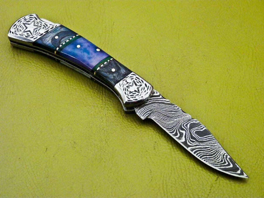 Damascus Pocket Knife 222-24-1